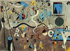'Carnaval d Arlequin', huile sur toile de Joan Miro (1893-1983, Spain)