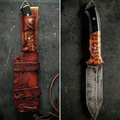 """MANNFALL - SOLD old Norse word for slaughter $329 shipped Message me to purchase S35vn steel Cryo treated 10"""" OAL Snake wood / G10 handle"""