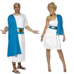 Pareja Senadores Romanos Azules #parejas #disfraces #carnaval  #novedades2015
