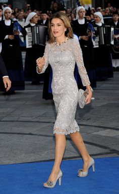 Princess Letizia of Spain arrives at the Prince of Asturias Award Ceremony on October 24, 2008 at the Campoamor Theatre in Oviedo, Spain