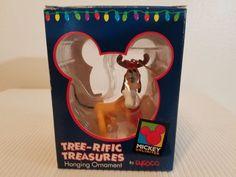 Disney Pluto Carrying Stocking  Tree-rific Treasures Hanging Ornament Enesco #Enesco