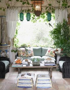 darling decor, especially pillows and lanterns