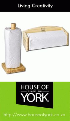 Every busy kitchen needs a paper towel on hand. House of York's paper towel holders are either portable or wall-mounted.
