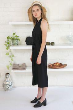 Baserange Apron Dress Raw Silk b7521639d