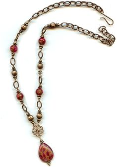 All components to make Ruby Wednesday Necklace - Click Image to Close