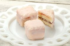 Pointed pinkies only, please: petits fours with poured fondant icing