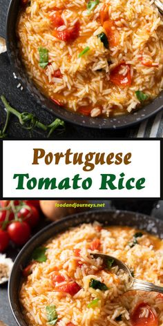 An authentic rice dish from Portugal that you can easily make at home! Portuguese Tomato Rice (Arroz de Tomate) is a flavorsome side dish that you can serve with meat, fish, or seafood. Its ready in 30 minutes! Rice Side Dishes, Vegetable Side Dishes, Food Dishes, Mexican Food Recipes, Vegetarian Recipes, Cooking Recipes, Healthy Recipes, Ethnic Recipes, Rice Recipes