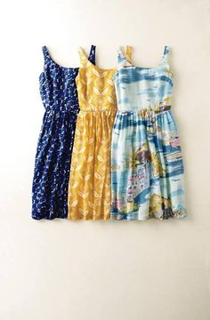 summer dresses- I love all three of these... The colors/ print, & the cut/style. LOVE LOVE LOVE