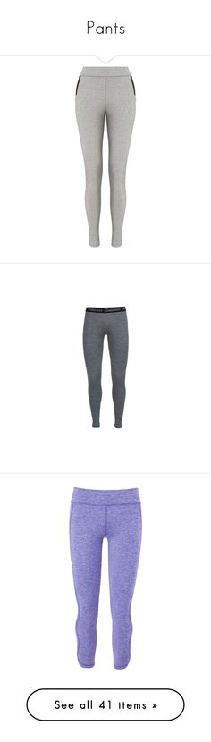 """Pants"" by lopem on Polyvore featuring grey, miss selfridge, pants, leggings, sports trousers, light weight pants, lightweight travel pants, merino wool leggings, white and black leggings and activewear"