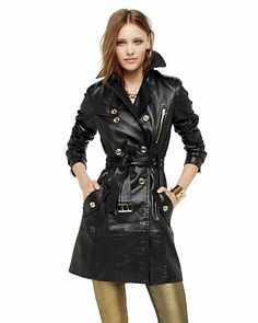 Coated Denim Trench - Juicy Couture
