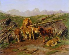 Weaning the Calves jigsaw puzzle in Piece of Art puzzles on TheJigsawPuzzles.com