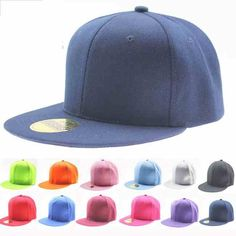 f5ae21362a9 9 Color Fashion Blank Plain Snapback Hats Hip-Hop adjustable bboy Baseball  Cap Flat Hats