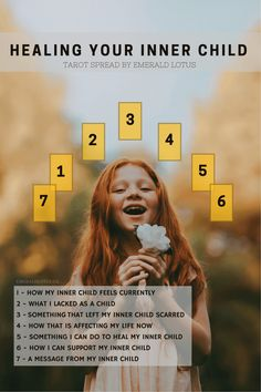 Tarot Spread - Healing Your Inner Child The inner child exists in all of us, at all times. It is so important to heal and embrace our inner child, this tarot spread will help you do so. Find more free tarot spreads,