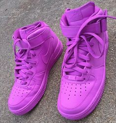 fec33afe2e7899 Purple Nike Air Force Sneakers Purple Nikes