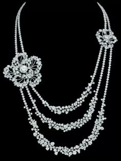 Camelia collar made by Chanel jewelry for the film Anna Karenina. Camelias were her favorite flower.