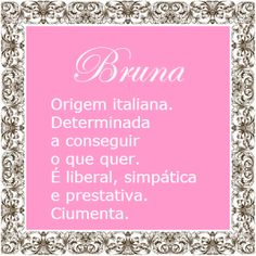 Significado do nome Bruna | Significado dos Nomes