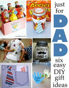 fathers day gift ideas. Love the Reeses Pieces idea.