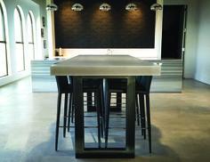 Industrial Concrete Zen Table by Trueform Concrete - Commercial concrete table