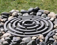 Harlestone Arcadian Ring Maze Pebble Pool Fountain
