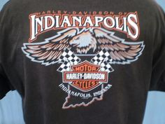 Harley-Davidson Brown XL T-Shirt Indianapolis Indiana Cotton