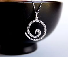 Sterling Silver Jewelry Necklace Hammered by NewMorningJewelry, $25.75