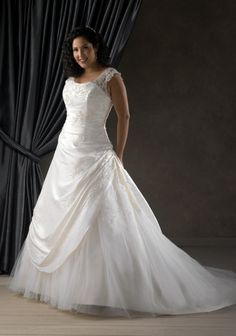 Plus Size Wedding Gowns for Women | Create Your Own Wedding Dresses For Plus Size Women Cascading Ruffle ...