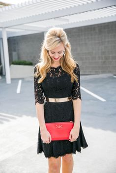 LBD and a Pop of Red Haute & Humid - Effortless Fashion, Every day