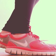 #run #nike #pink #running #shoes