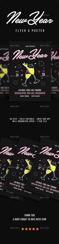 #New Year #Flyer Vol.5 - Flyers Print Templates