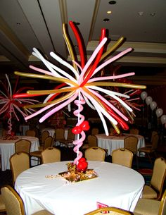 Balloon boquets for table center pieces 1001 balloon for Balloon decoration book