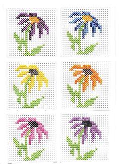 Mini Cross Stitch, Cross Stitch Cards, Simple Cross Stitch, Cross Stitch Flowers, Cross Stitching, Cross Stitch Designs, Cross Stitch Patterns, Hand Embroidery Videos, Cross Stitch Pictures