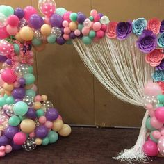 15 Super Ideas Baby Shower Centerpieces For Girls Balloons Center Pieces Balloon Backdrop, Balloon Garland, Balloon Decorations, Birthday Party Decorations, Baby Shower Centerpieces, Baby Shower Favors, Baby Shower Decorations, Unicorn Birthday Parties, Unicorn Party