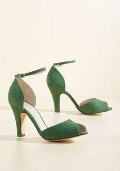 Fine Dining Heel in Emerald | Mod Retro Vintage Heels | ModCloth.com