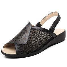 Floral Print Hollow Out Lace Leather Slip On Peep Toe Open Heel Buckle Flat Sandals Everyday Casual Outfits, Casual Outfits For Moms, Dressy Flats, Lolita Shoes, Womens Summer Shoes, Open Toe Shoes, Painted Shoes, Types Of Shoes, Leather Slip Ons