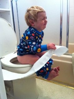 Pooping in My Pajamas How To Potty Train Your Toddler to Look Cute on the Toilet ---- hilarious jokes funny pictures walmart humor fails