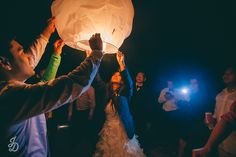 Paper lanterns, Stephanie & Cirilo California beach wedding » Jonathan David Studios