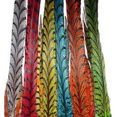"""Lady Amhurst Zebra Color Feathers 30""""+ CHOOSE COLOR"""