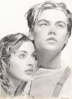Pencil drawing. Jack and Rose.