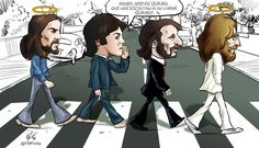 The Beatles, Abbey Road: Caricatures