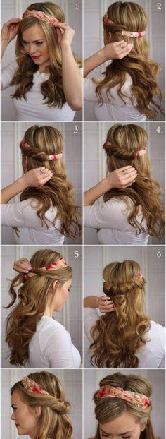 Scarf on Hair Styles
