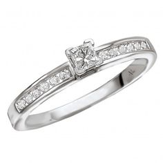 Solitaire Semi-Mount Diamond Ring $1,007 Style: 116051-S Channel Set Princess Cut Diamond Ring in 14kt White Gold. (D.1/8 carat total weight, does not include center stone) 3 Carat, Princess Cut Diamonds, Diamond Cuts, Channel, White Gold, Romance, Engagement Rings, Bridal, Stone
