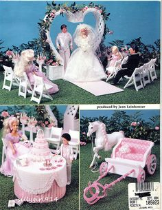 """""""FAIRY TALE WEDDING""""~Plastic Canvas PATTERN BOOK ONLY for BARBIE FASHION DOLL picclick.com"""