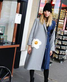 Veronika Heilbrunner in an Altuzarra dress and Anya Hindmarch coat // I WANT THIS COAT.