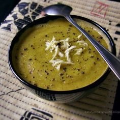 Garlic Broccoli Soup with yellow lentils food soup healthy healthy food healthy eating food images garlic broccoli food pictures lentils