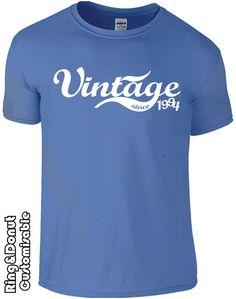 Personalised vintage birthday tshirt