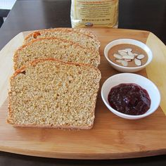 Homemade 100% Whole Grain Bread Recipe by @Go Dairy Free with @Lucie Légaré Cheyer's Red Mill