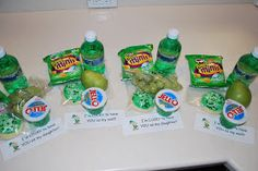 """St. Patrick's Day lunch with a note saying, """"I'm lucky to have you as my daughter/son"""""""