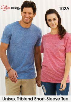 Buy Threadfast Apparel Unisex Triblend Short Sleeve T Shirt in Bulk Short Sleeve Tee, Unisex, Free Shipping, Flat, Tees, Clothing, T Shirt, Stuff To Buy, Women