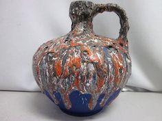 Fat lava pitcher Ruscha 340 WGP Keramik 60er von Designclassics24