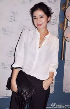 Reflective Journal, Now And Then Movie, Asian Celebrities, Chinese Actress, Hong Kong, Movie Tv, Beautiful Pictures, Tv Shows, Ruffle Blouse